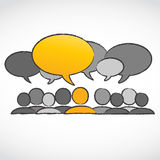 Standing out concept dialog bubbles Royalty Free Stock Images