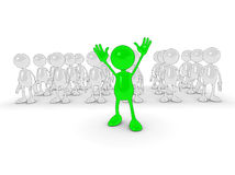 Standing out from the crowd vector illustration