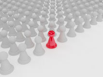 Standing out of a crowd Royalty Free Stock Photo