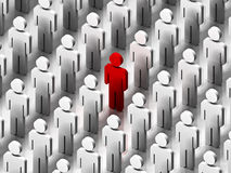 Standing Out From The Crowd. Stand out from the crowd model stock illustration
