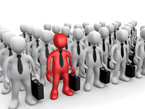 Standing Out Of The Crowd Royalty Free Stock Image