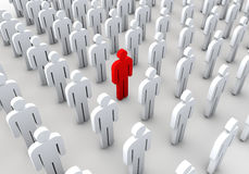 Standing out from the crowd. About different people in the crowd concept design Royalty Free Stock Photos