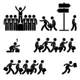 Standing Out of the Crowd. A set of pictogram representing the concept of standing out among the crowd in business world Stock Image