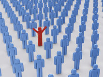 Standing out from the crowd Royalty Free Stock Photography