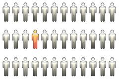 Standing Out In a Crowd Royalty Free Stock Photo