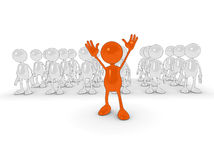 Standing out from the crowd royalty free illustration
