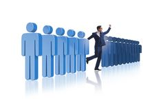 The standing out from crowd concept with businessman Stock Image