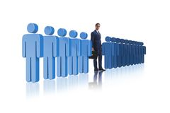 The standing out from crowd concept with businessman Royalty Free Stock Photography