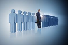 The standing out from crowd concept with businessman Royalty Free Stock Images