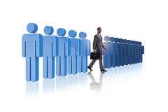 The standing out from crowd concept with businessman Royalty Free Stock Photos