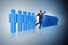The standing out from crowd concept with businessman Royalty Free Stock Image
