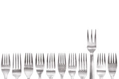 Standing out of the crowd fork Royalty Free Stock Photos