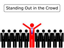 Standing Out in the Crowd Stock Image