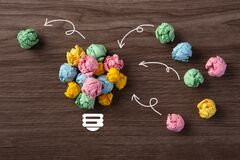 Free Standing Out From The Crowd, Brainstorming, Colorful Paper Ball Royalty Free Stock Photos - 195999908