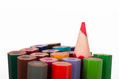 Standing Out Red Pencil Royalty Free Stock Photography