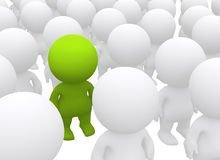 Standing out3D man Royalty Free Stock Images