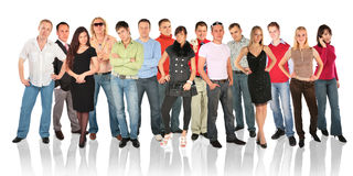 Standing people group Royalty Free Stock Images