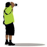Standing Photographer Royalty Free Stock Photography