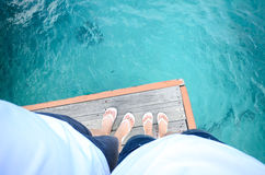 Standing on the pier Royalty Free Stock Photos