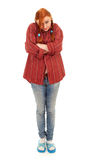 Standing pigtail young woman Royalty Free Stock Photography