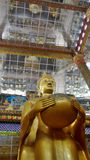 Standing posture Buddha sculpture. In temple in Bangkok Thailand Stock Image