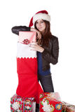 Standing by presents Stock Photography