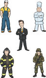 Standing professional people. Vector illustration of standing professional people Stock Photo