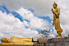 Standing and reclining Buddha statue, Thailand Royalty Free Stock Image
