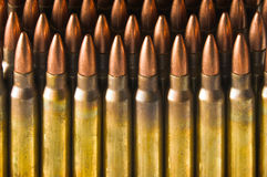 Standing rifle cartridges stock image