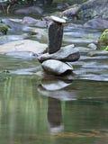Standing  4. Rock art in stream Stock Photo