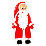 Standing santa claus. isolated character drawing Stock Photography