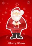 Standing Santa postcard. Royalty Free Stock Image