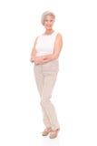 Standing senior woman Royalty Free Stock Photo