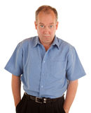 Standing Serious Man Looking at You Royalty Free Stock Photography