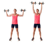 Standing Shoulder Press Royalty Free Stock Photography