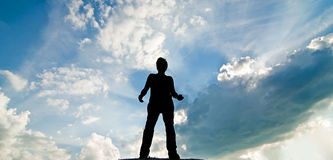 Standing silhouette Royalty Free Stock Image