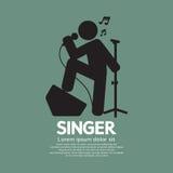 Standing Singer Black Graphic Symbol Royalty Free Stock Photo