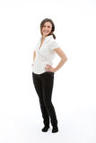Standing smiling female Royalty Free Stock Images