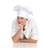 Standing smiling male cook Royalty Free Stock Photo
