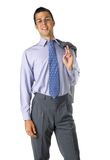Standing smilling business man. With jacket Stock Image