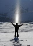 image photo : Standing in Snow, Enjoying Sunlight