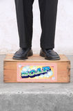 Standing on a Soap Box Stock Photography