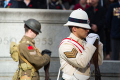 Standing soldiers Royalty Free Stock Images
