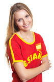 Standing Spanish Sports Fan With Crossed Arms Stock Images