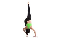 Standing split yoga pose Royalty Free Stock Photo