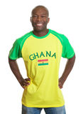 Standing sports fan from Ghana Royalty Free Stock Photography