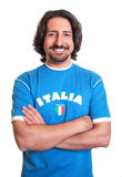 Standing sports fan from Italy Royalty Free Stock Image