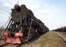 Standing steam train Stock Photos