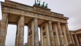 Brandenburg Gate Berlin. Standing still in front of one of the most stunning buildings in Berlin, Brandenburg Gate. It was so cold that day but the view was royalty free stock photos