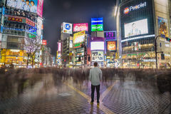 Standing Still at Shibuya Crossing, Japan Stock Image